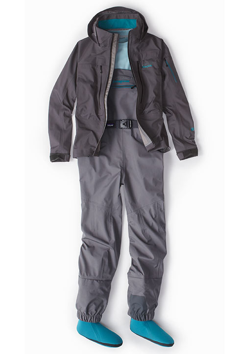 Women's Spring River Waders and River Salt Jacket